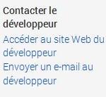 Avantage - contacter développeur